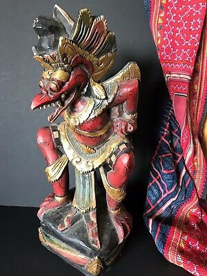 Old Balinese Carved Wooden Bird Man …beautiful accent / collection piece