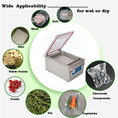 Commercial Vacuum Sealer System Food Sealing Machine Kitchen Storage Packing  sc 1 st  PicClick & 110V KITCHEN STORAGE Vacuum Sealer Desktop Sealing DZ-260 Packing ...