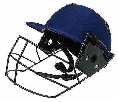Lalit Cricket Head Protection Adjustable Blue Helmet Equipments - Size Available