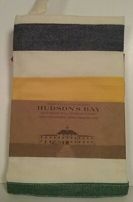 NEW Child's Hudson's Bay Point Blanket Design 100% Cotton Apron 3 Front Pockets
