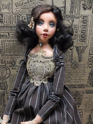 "ooak art collectible doll ""Edna"" Gatsby style"