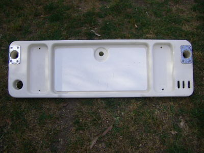 Fibreglass Bait Board For Boat With 2 Rod Holders - Large