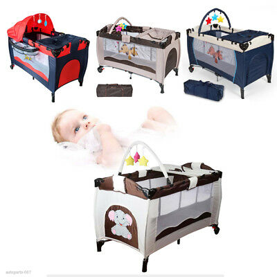 Portable Infant Child Baby Travel Cot Bed Playpen Bassinet Entryway Four Colors