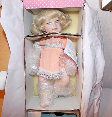 Paradise Galleries Bed and Bath Time Babies Treasury Collection Porcelain Doll