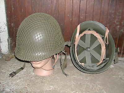 Ww2 Casque Americain Complet  Coque + Liner + Filet - Gi 1944