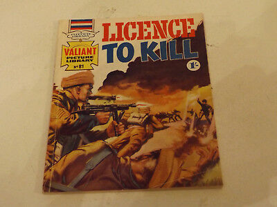 VALIANT PICTURE LIBRARY,NO 81,1966 ISSUE,V GOOD FOR AGE,51 yrs old,V RARE COMIC.