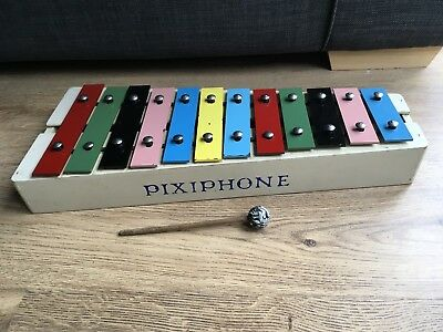 Vintage Playcraft Pixiphone / Xylophone With Beater Stick