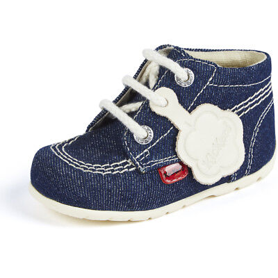 Kickers Kick Hi B Dark Blue Textile Baby First Walkers Shoes