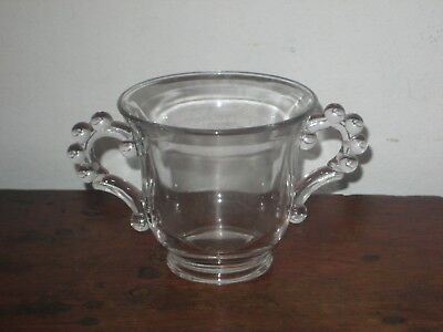 Canadian Glass Twin Handled Cup Early 20Th Century