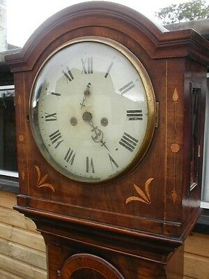Bargain Superb Inlaid 8 Day Longcase Possibly Irish Requires  A Little Tlc