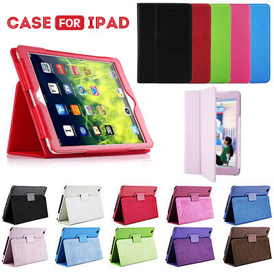 UK Smart Magnetic Leather Cover Case back for apple iPad 2/3/4 mini Air 2