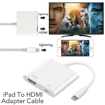 8Pin Lightning to Digital AV Adapter HDMI Cable For iPhone 7 6 6S iPad Air 2017