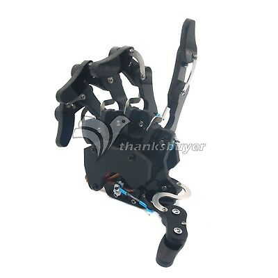 Five Fingers Mechanical Claw Clamper Gripper Arm Right Hand +Servos Assembled US