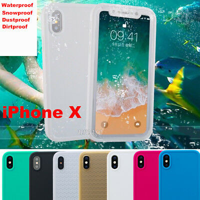 iPhone X Waterproof Case Shockproof Dirt proof Dust Durable Full Cover for Apple