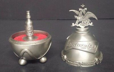 Anheuser Busch Budweiser Bottle pewter egg  N8381  MIB