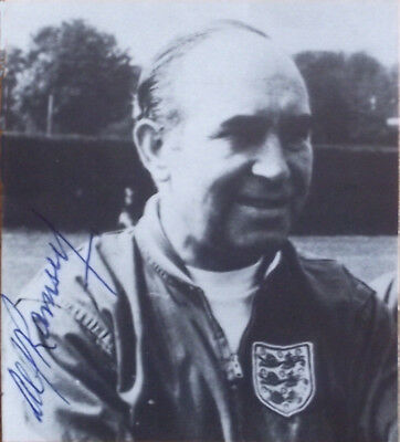 England 1966 World Cup signed Sir Alf Ramsey Autograph Ipswich Town Manager