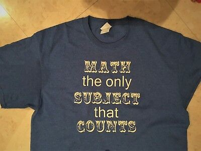 child tee shirt funny math size youth small
