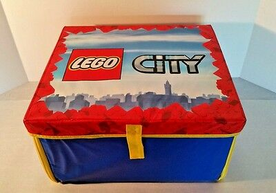 2 in 1 Lego City Zip Bin Storage Carry Case & Play Mat 2010