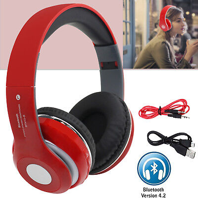 Wireless Bluetooth 4.2 Hifi Super STEREO Headphone Headset Mic SD Slot Mp3 FM UK