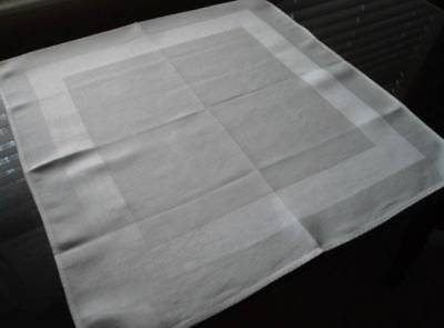 6 Vintage Irish Linen Double Damask Dinner Napkins Satin Band Ireland 22""