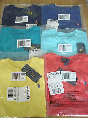 POLO RALPH LAUREN BOYS COTTON CREW SHORT SLEEVE  T-SHIRT - ages 2-6 UK rrp £19