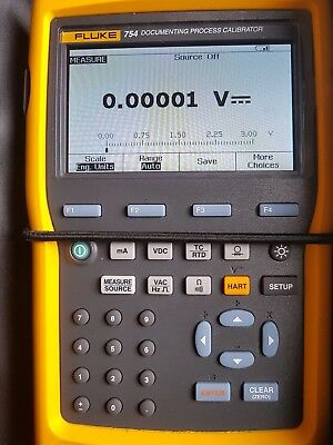 Fluke 754 Documenting Process Calibrator With Hart Communicator. 2017 Model.