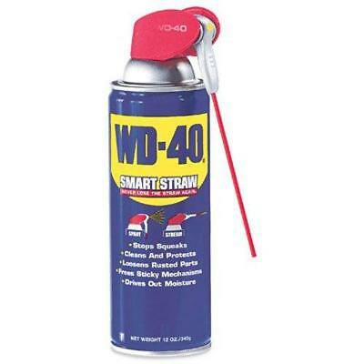 WD-40 Multi-Use Product Lubricant With Smart Straw Spray Comfortable Grip 12 OZ