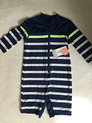 Baby Boys Carter's Striped One Piece Swim Outfit~Size 12 Months
