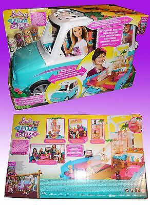 Barbie Jeep Puppy Chase  Cuccioli Mobile Apribile Dly33