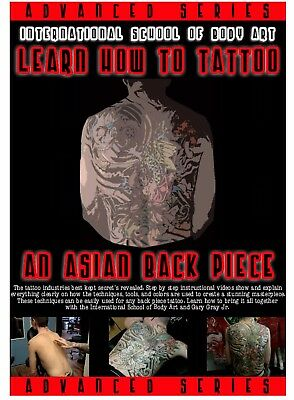 Learn How to Tattoo  Asian Back Piece (DVD, 2012, 2-Disc Set)