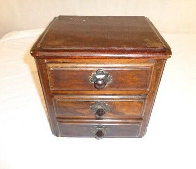 Antique Victorian Minature Chest Of Drawers Jewellery Box Annie Sloane Project