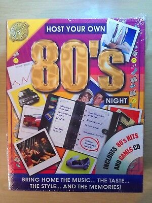 Host Your Own 80s Night; Includes 80s Hits & Games CD! Brand New & Sealed