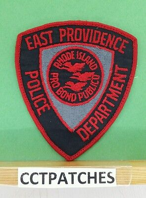 East Providence, Rhode Island Red Subdued Police Shoulder Patch Ri