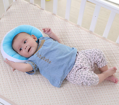 Baby Pillow Anti-flat Head Syndrome Ultra Soft Memory Mawata Blue