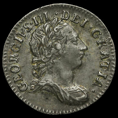 1762 George III Early Milled Silver Threepence