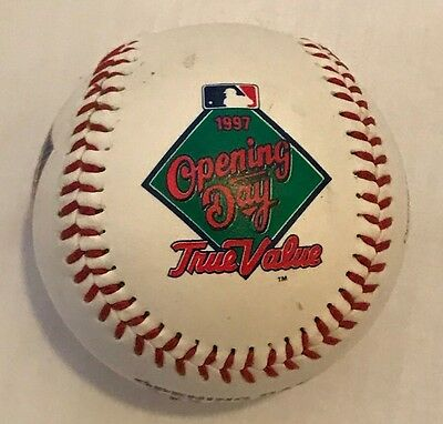 Vintage Baseball Texas Rangers Opening Day April 1, 1997 True Value