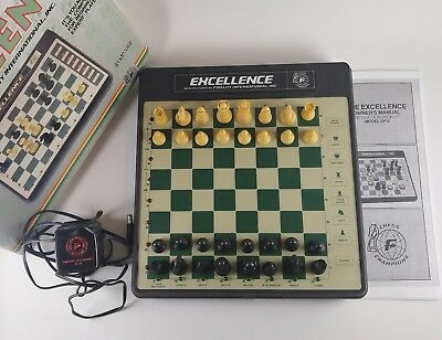 Vintage The Excellence Chess Game Fidelity International EP-12 1985