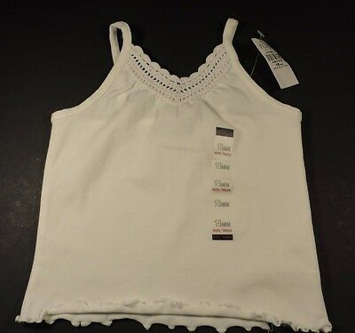 The Children's Place Girl's White Tank Top Cami Stretch Shirt Size 18 months NWT