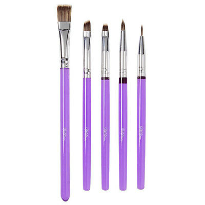 Wilton Deluxe Cake Decorating Brush Set - Purple 5pc