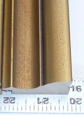 9 ft VINTAGE OLD GOLD Picture Frame Molding SEPIA SHADE