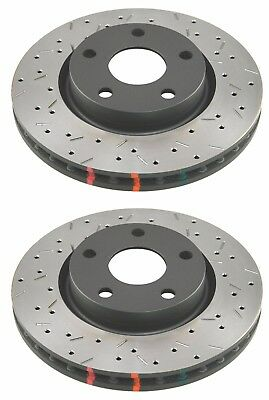Dba 2016-2017 Ford Focus Rs 2.3L Hb Rear Drilled + Slotted Brake Rotors T3 4000