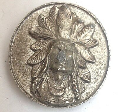 Indian Head Belt Buckle American Vintage Classic Retro Country Western