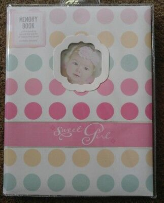 New C.R. Gibson Sweet Girl Polka Dot Baby's First Memory Record Baby Book 5 Year