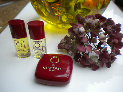 2 X  PARFUMMINIATUREN°°°O DE LANCOME IN ROT**JE 7,5ml EDT❤️❤️PLUS 25 g SEIFE