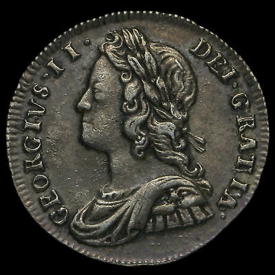 1737 George II Early Milled Silver Twopence