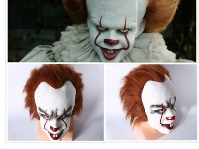 Pennywise Clown Mask It Deluxe Halloween Stephen King Latex Cosplay Costume