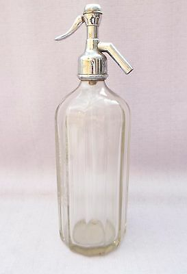 Vintage Etched Glass Soda Syphon Robinson & Speight Blackfriargate Hull Siphon