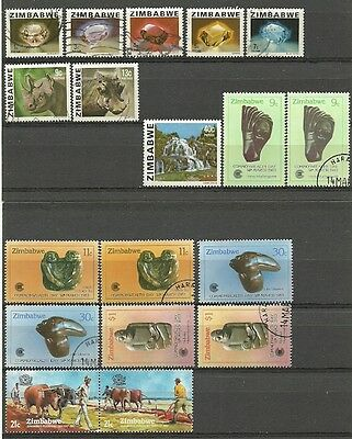 Africa Zimbabwe mint/used 1980-5 Southern Rhodesia 1953-77 Rhodesia ** 3 scans**