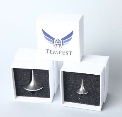 Tempest Foreverspin Double Gift Pack Small AND Large Brushed Stainless Tops!