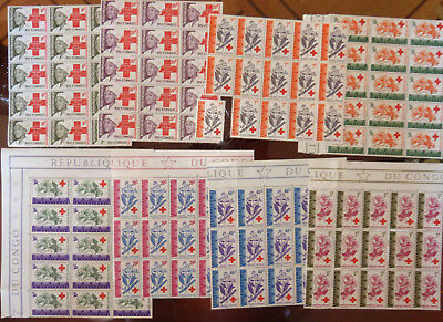 Congo..1963  Red  Cross..lot.15 Sets..prc.70$..mnh